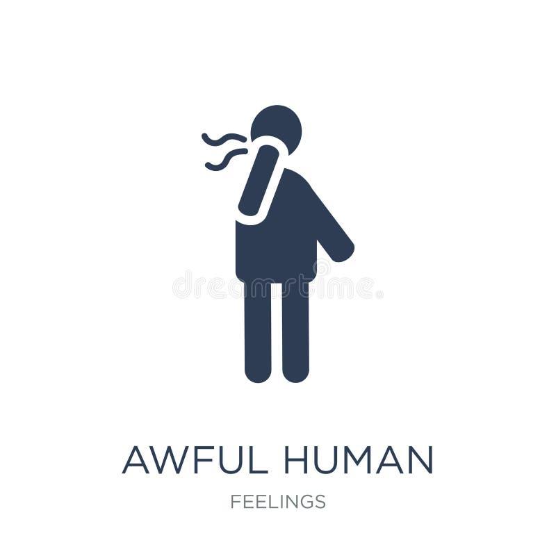icône humaine terrible Icône humaine terrible de vecteur plat à la mode sur b blanc illustration de vecteur