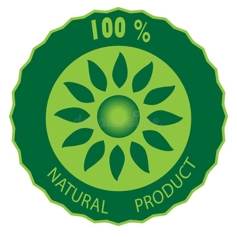 Icône hypoallergénique et qui respecte l'environnement de produit, qui respecte l'environnement illustration de vecteur