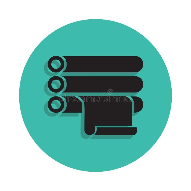 icône imprimée de petit pain Élément de maison d'impression pour le concept et l'icône mobiles d'apps de Web Ligne mince icône av illustration libre de droits