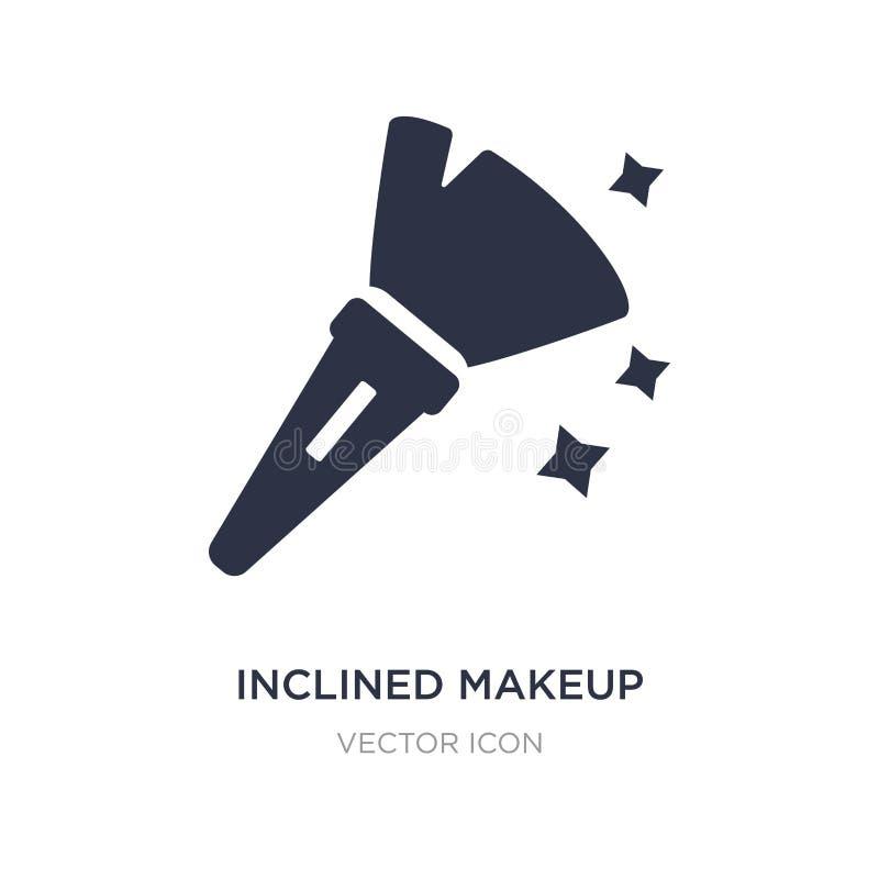 icône inclinée de brosse de maquillage sur le fond blanc Illustration simple d'élément de concept de beauté illustration stock