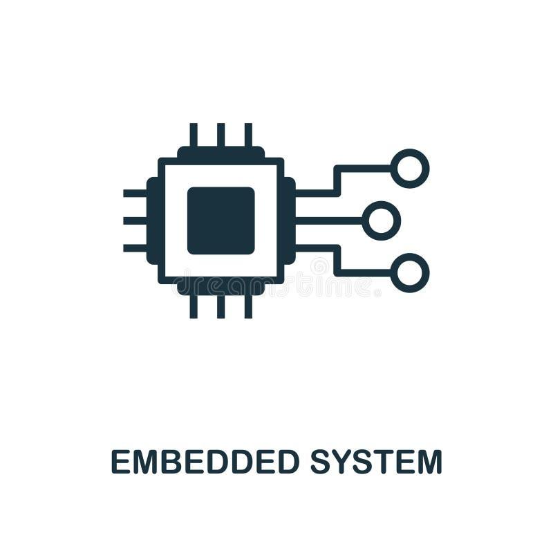 Icône incluse de système Conception monochrome de style de l'industrie 4 0 collections d'icône UI et UX Icône incluse parfaite de illustration libre de droits