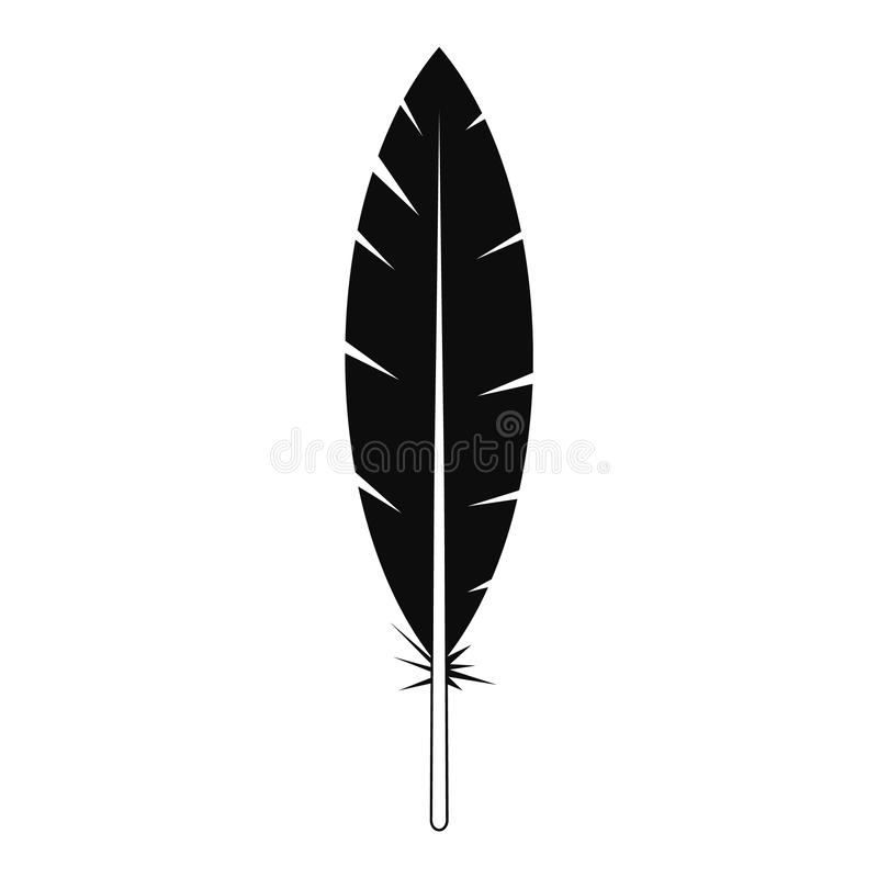 Icône indienne de plume, style simple illustration de vecteur
