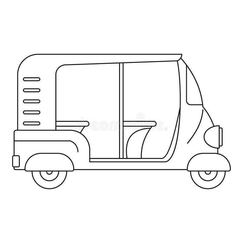 Icône indienne de pousse-pousse, style d'ensemble illustration stock