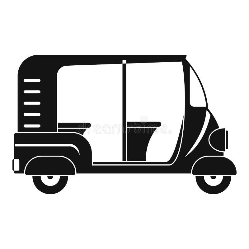 Icône indienne de pousse-pousse, style simple illustration de vecteur