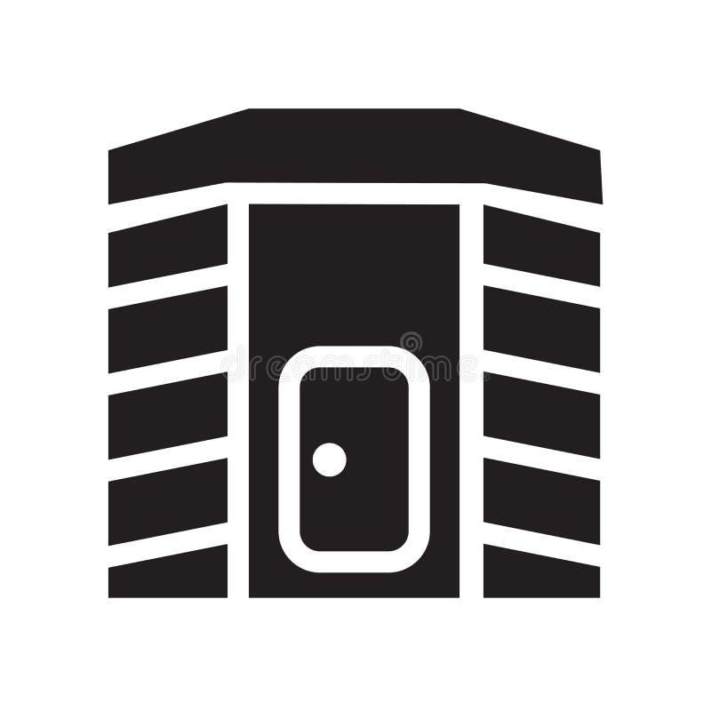 Icône infrarouge de cabine de la chaleur Concep infrarouge à la mode de logo de cabine de la chaleur illustration stock