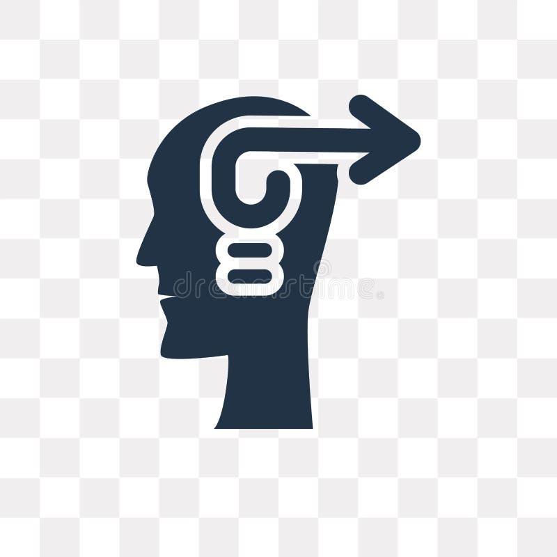 Icône initiatique de vecteur d'isolement sur le fond transparent, Initi illustration libre de droits