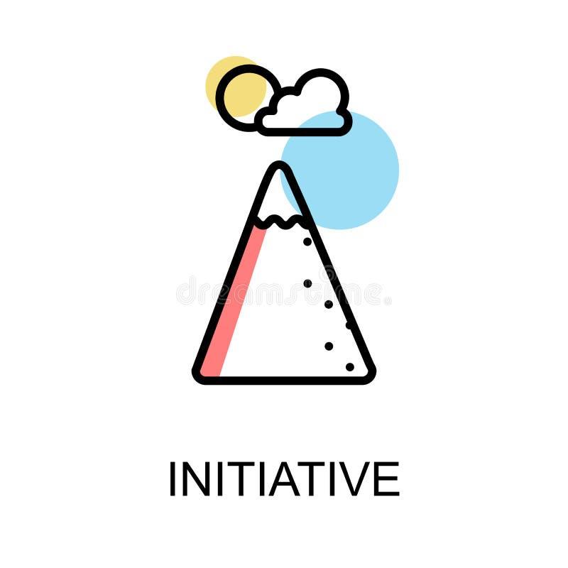 Icône initiatique sur la conception blanche d'illustration de fond illustration stock