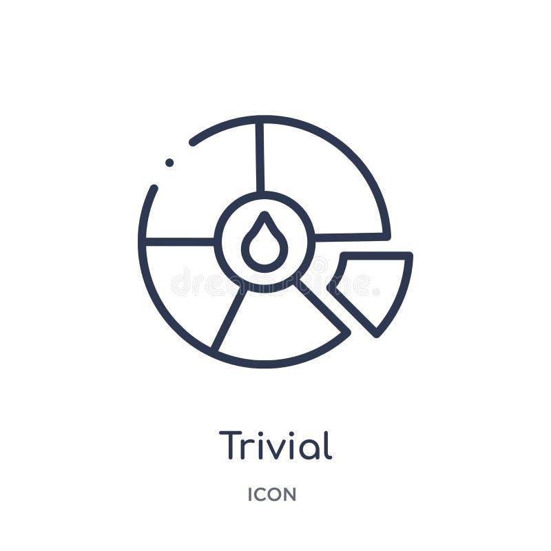 Icône insignifiante linéaire de collection d'ensemble de jeu Ligne mince icône insignifiante d'isolement sur le fond blanc à la m illustration de vecteur