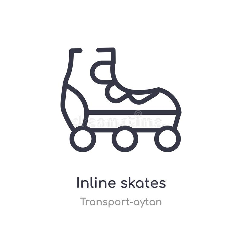 icône intégrée d'ensemble de patins ligne d'isolement illustration de vecteur de collection de transport-aytan patins intégrés de illustration stock