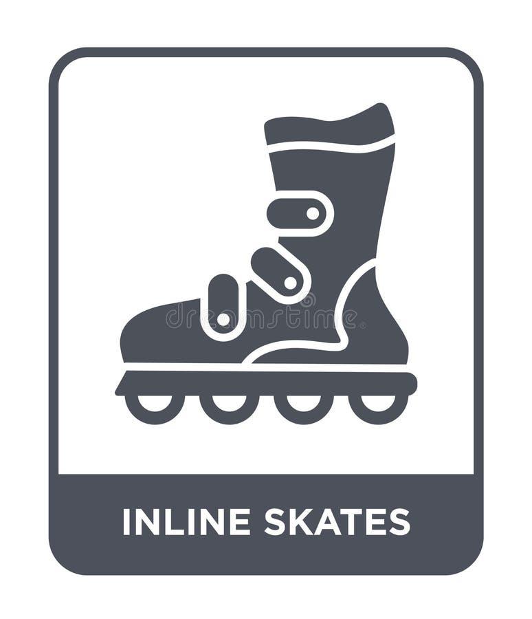 icône intégrée de patins dans le style à la mode de conception icône intégrée de patins d'isolement sur le fond blanc les raies i illustration de vecteur