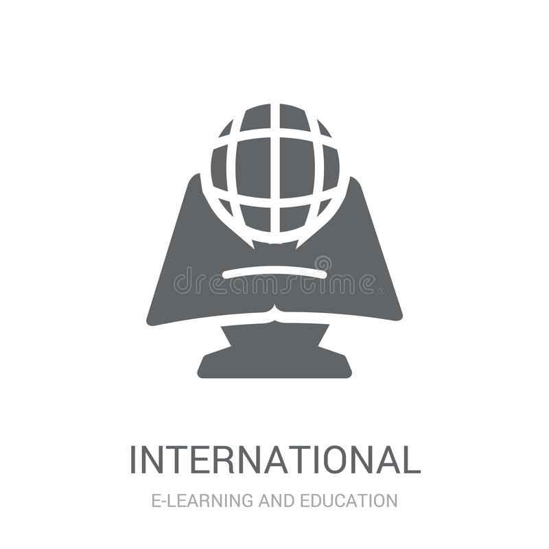 Icône internationale  illustration de vecteur