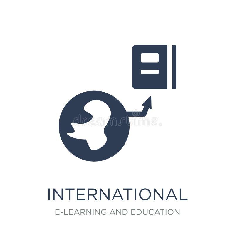 Icône internationale Icône internationale de vecteur plat à la mode sur le whi illustration libre de droits