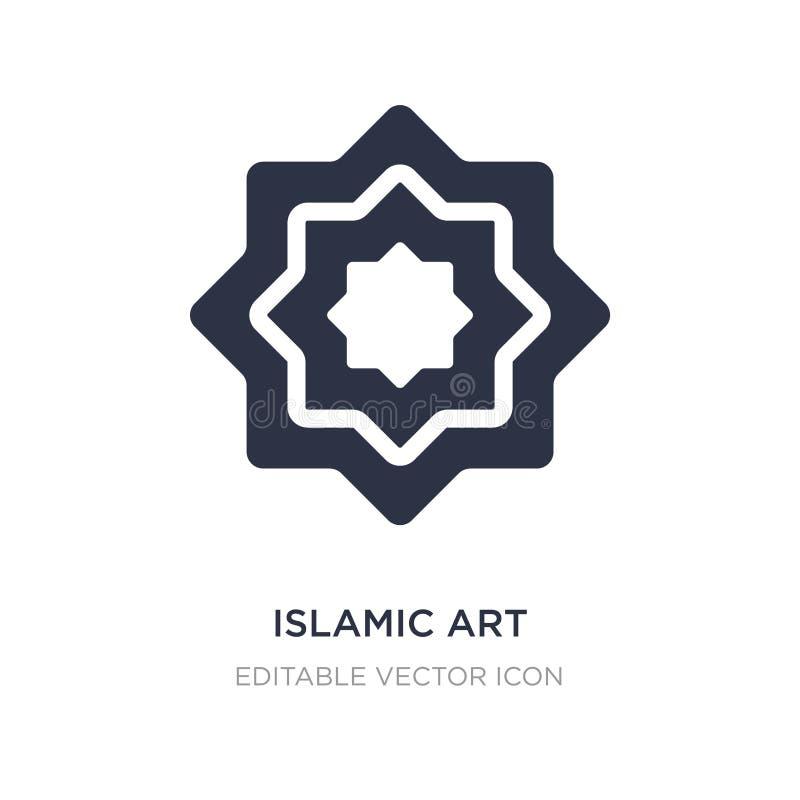 icône islamique d'art sur le fond blanc Illustration simple d'élément de concept d'art illustration de vecteur