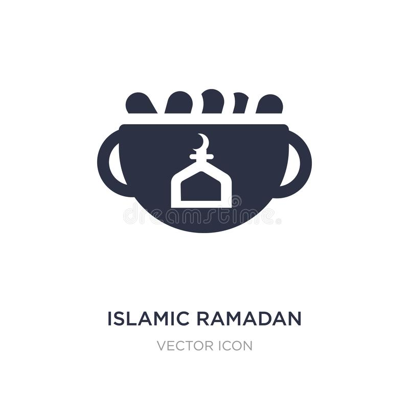 icône islamique de Ramadan sur le fond blanc Illustration simple d'élément de concept de religion illustration libre de droits