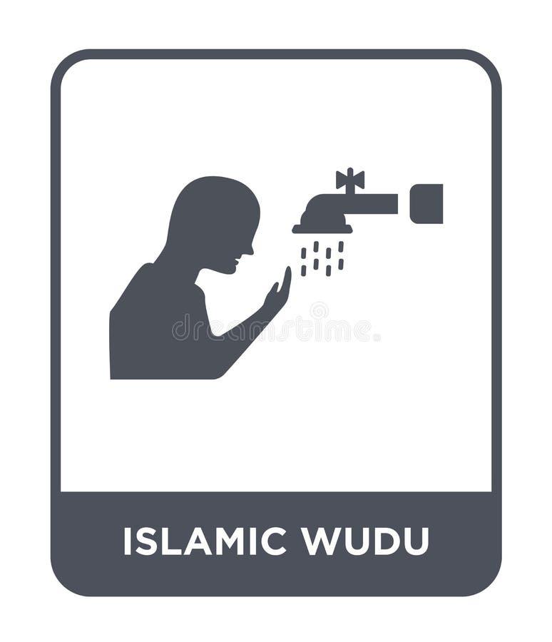 icône islamique de wudu dans le style à la mode de conception icône islamique de wudu d'isolement sur le fond blanc icône islamiq illustration de vecteur
