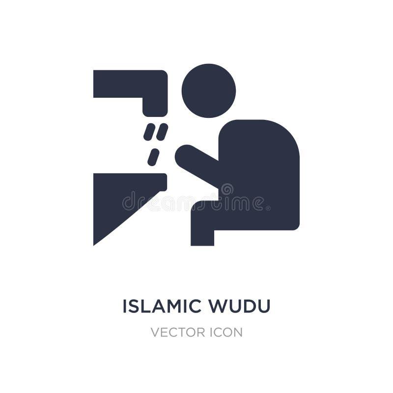 icône islamique de wudu sur le fond blanc Illustration simple d'élément de concept de religion illustration stock