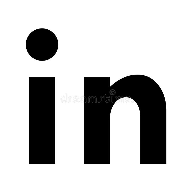 Icône islolated par vecteur de Linkedin Logo social de media, symbole illustration stock