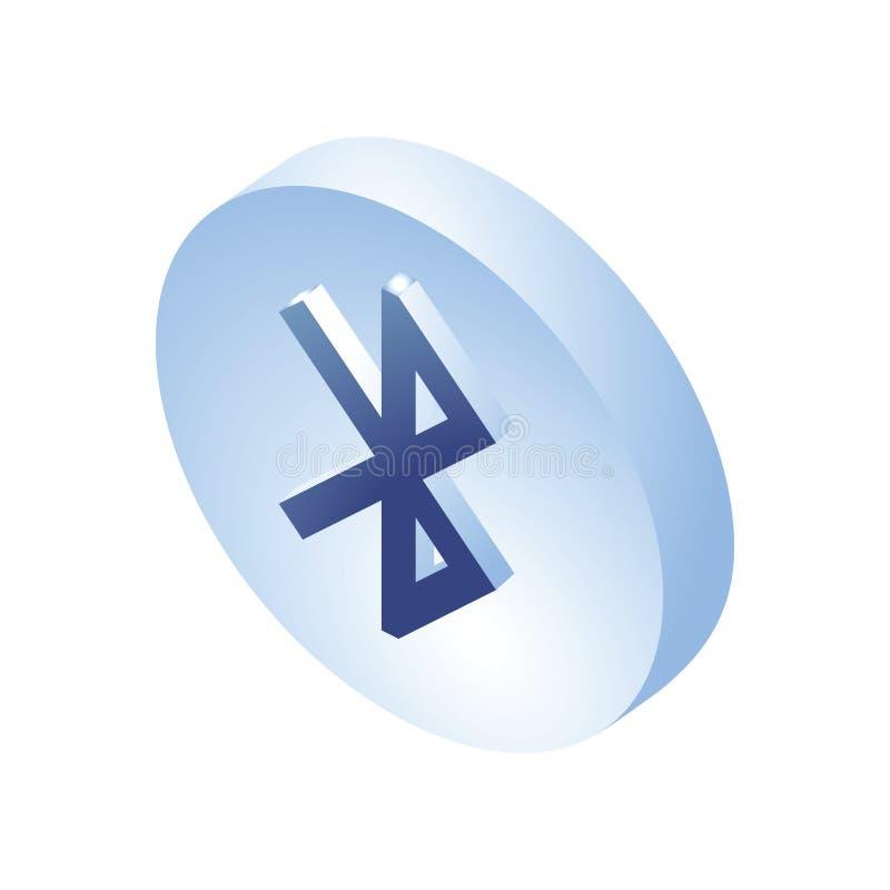 Icône isométrique de Bluetooth signe isométrique de 3D Bluetooth Créé pour le mobile, Web, décor, produits d'impression, applicat illustration stock
