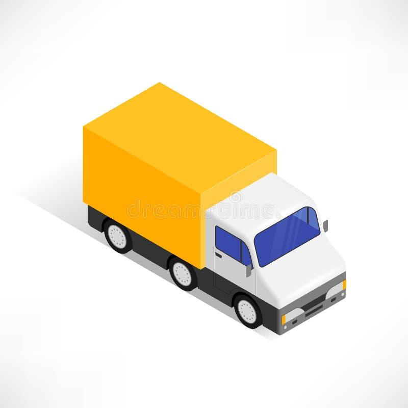 Icône isométrique de camion illustration libre de droits