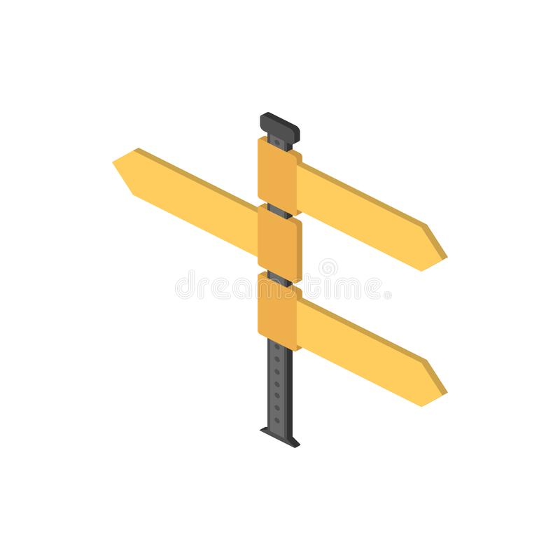 Icône isométrique de Fingerpost Élément d'icône isométrique de panneau routier de couleur Icône de la meilleure qualité de concep illustration stock