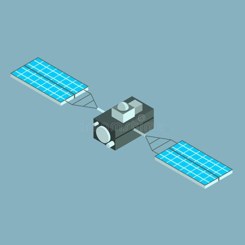 Icône isométrique de vecteur satellite illustration stock
