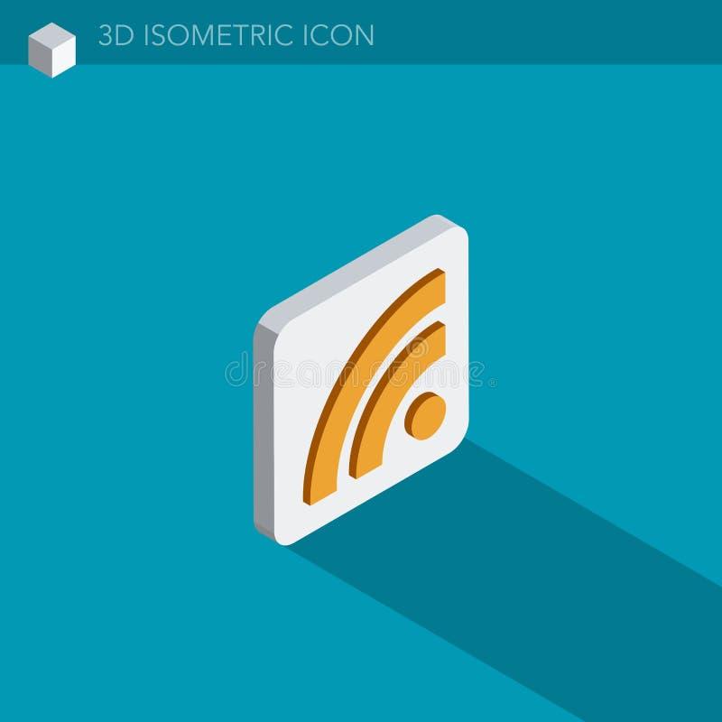 Icône isométrique de Web de Wifi 3D illustration stock