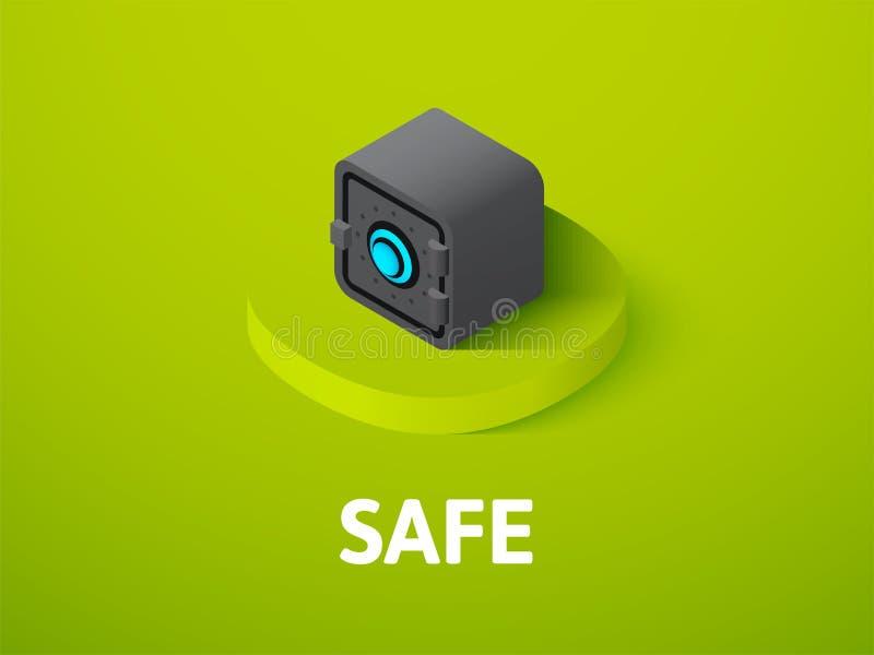 Icône isométrique sûre, d'isolement sur le fond de couleur illustration libre de droits