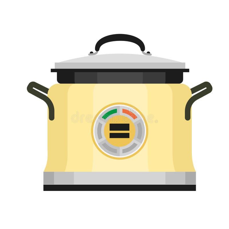 Icône italienne de cuiseur, style plat illustration libre de droits