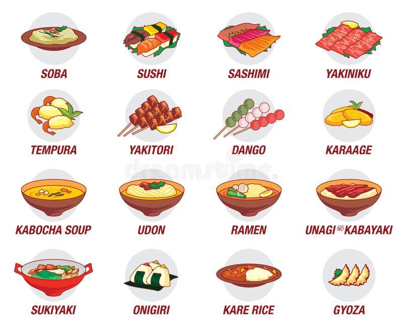 Icône japonaise de nourriture illustration stock