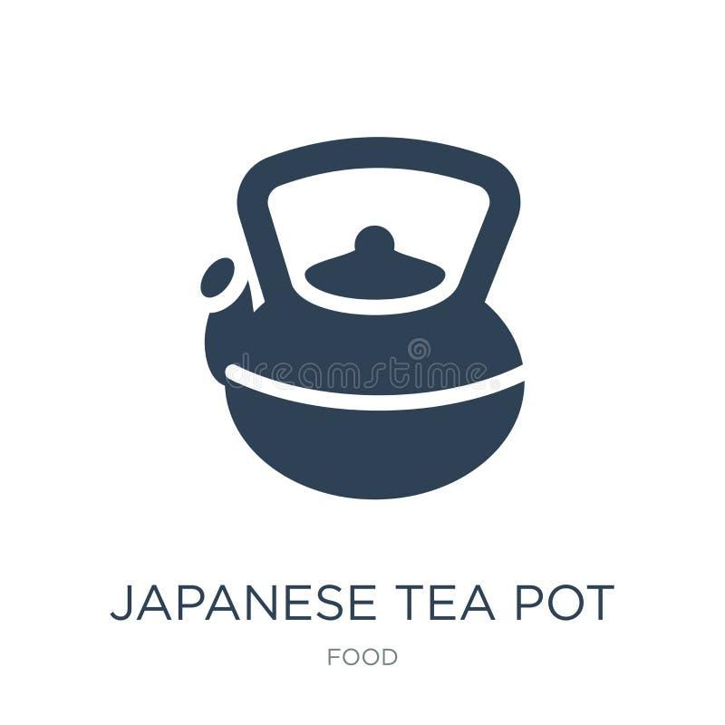 icône japonaise de pot de thé dans le style à la mode de conception icône japonaise de pot de thé d'isolement sur le fond blanc I illustration libre de droits