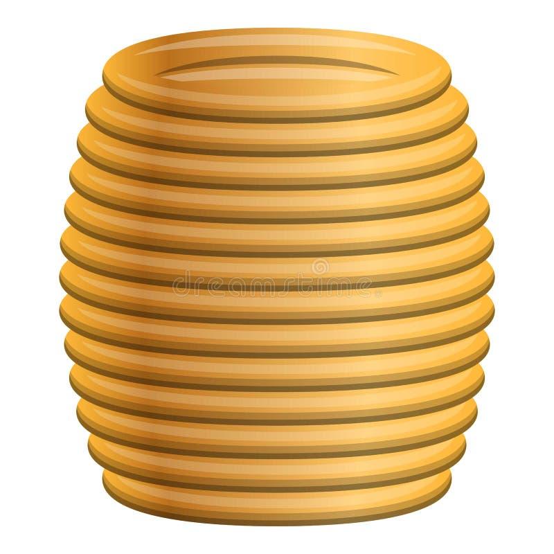 Icône jaune de câble de bobine, style de bande dessinée illustration libre de droits