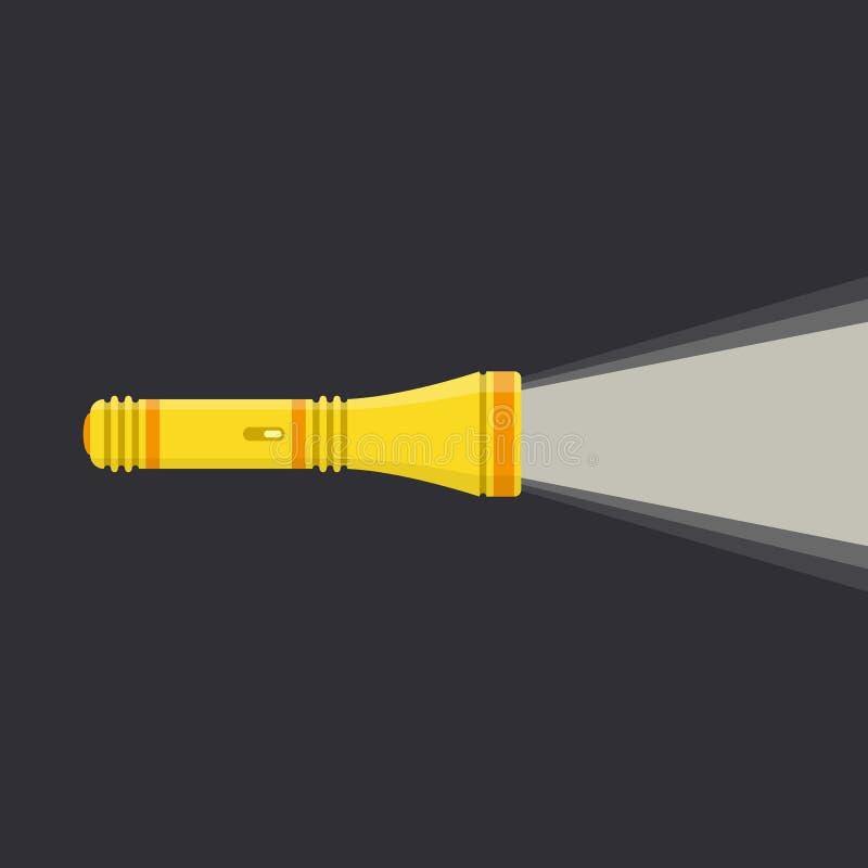Icône jaune de lampe-torche illustration libre de droits
