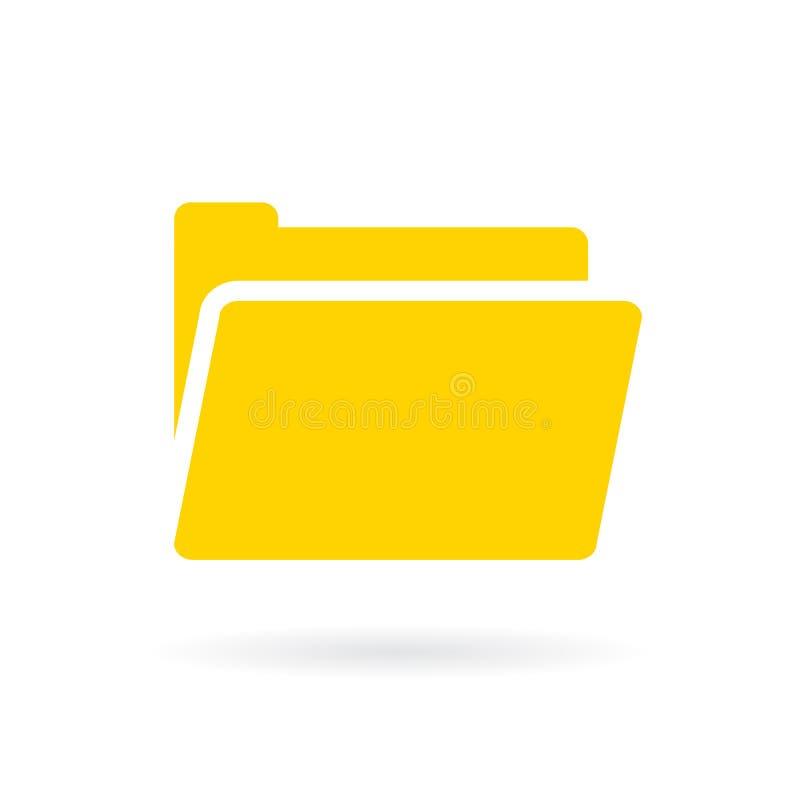 Icône jaune de vecteur de dossier d'ordinateur illustration de vecteur