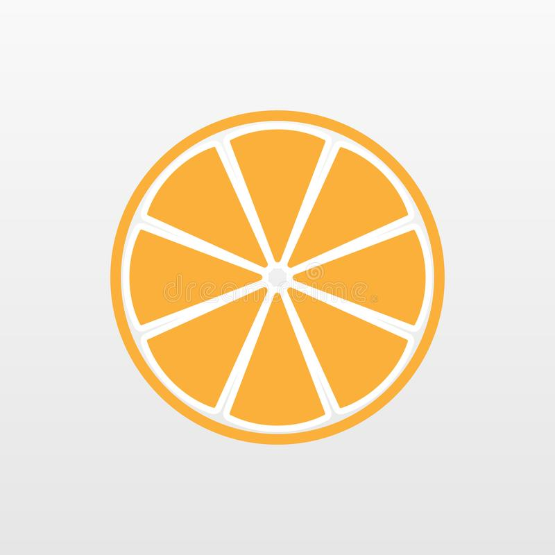 Icône jaune-orange de fruit d'isolement Signe végétarien plat simple moderne Nourriture fraîche, concept d'Internet illustration de vecteur