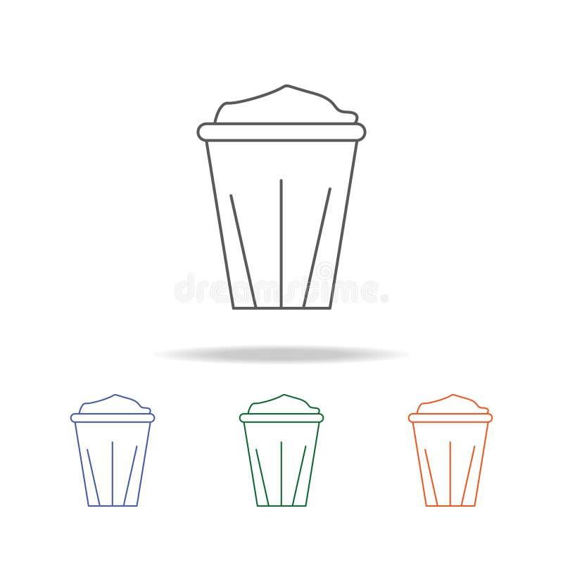 Icône jetable de tasse de café L'élément de la salle de bains usine l'icône colorée multi pour les apps mobiles de concept et de  illustration libre de droits