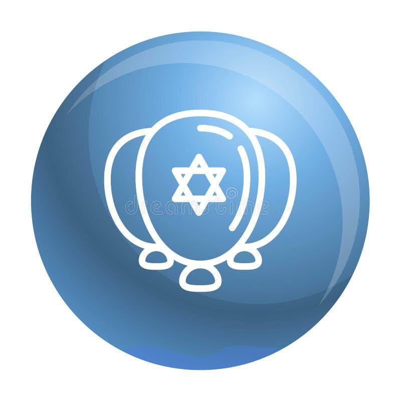 Icône juive de ballons, style d'ensemble illustration stock