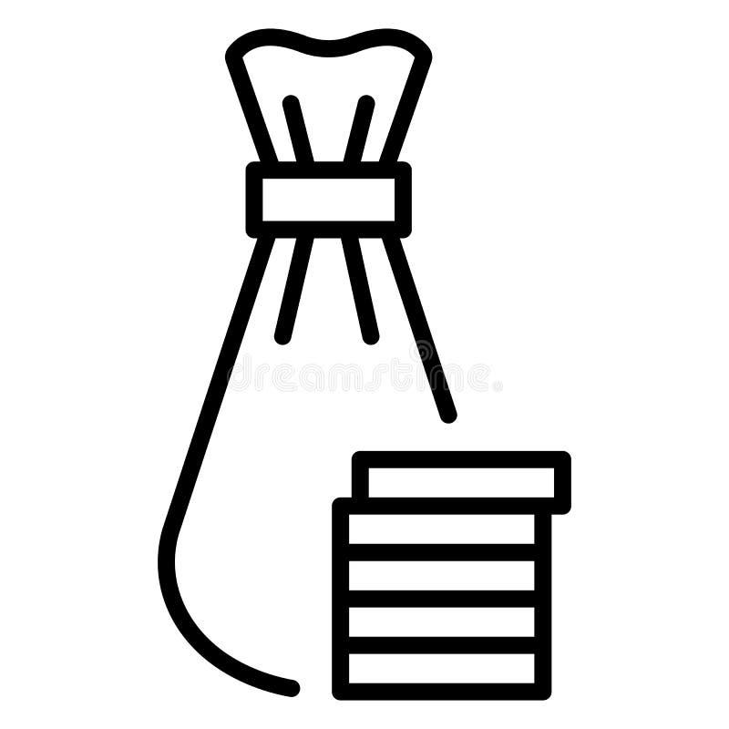 Icône juive de sac d'argent, style d'ensemble illustration libre de droits