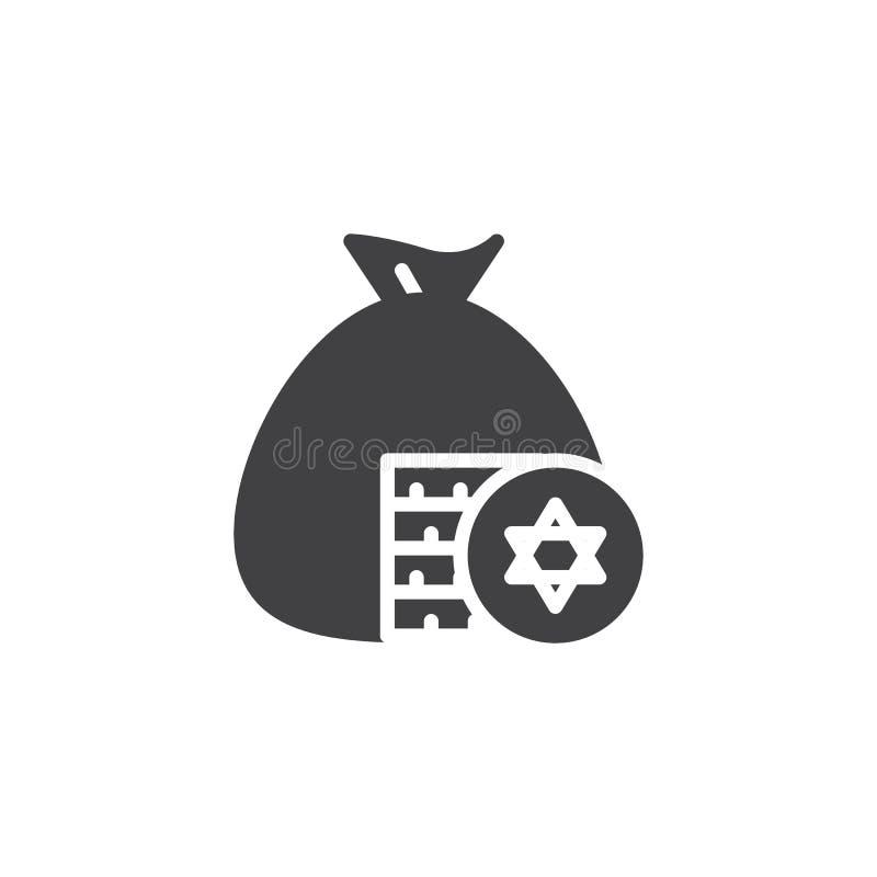 Icône juive de vecteur de Gelt illustration libre de droits