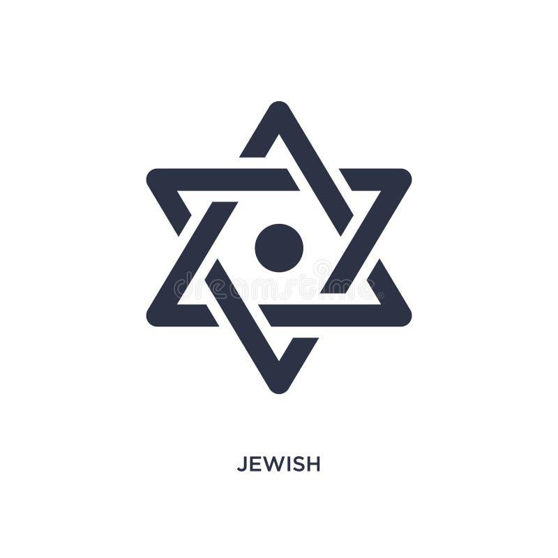 icône juive sur le fond blanc Illustration simple d'élément de concept magique illustration libre de droits