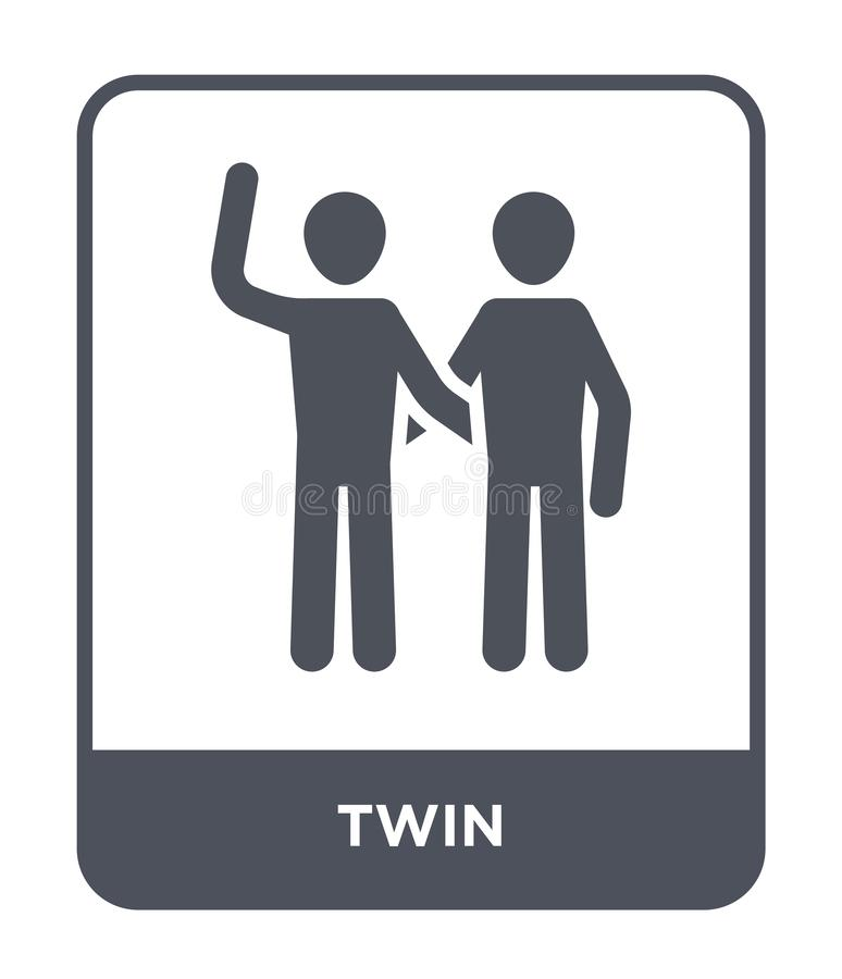 icône jumelle dans le style à la mode de conception icône jumelle d'isolement sur le fond blanc symbole plat simple et moderne d' illustration libre de droits