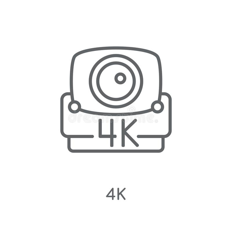 icône 4k linéaire Concept moderne de logo d'ensemble 4k sur le backgrou blanc illustration libre de droits