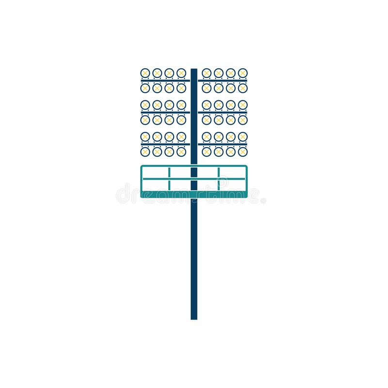 Icône légère de mât du football illustration libre de droits