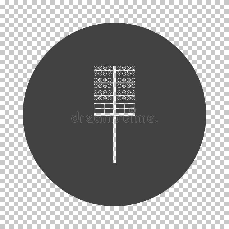 Icône légère de mât du football illustration stock