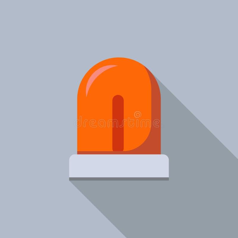 Icône légère instantanée rouge, style plat illustration de vecteur