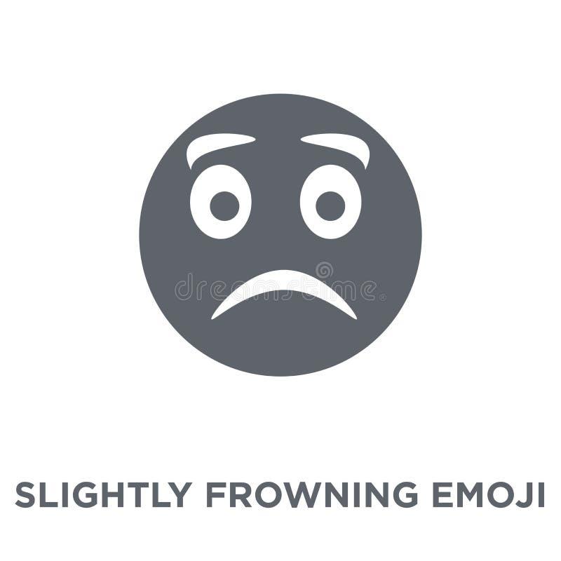 Icône légèrement de froncement de sourcils d'emoji de collection d'Emoji illustration stock