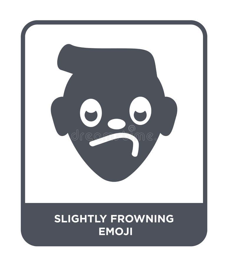 icône légèrement de froncement de sourcils d'emoji dans le style à la mode de conception icône légèrement de froncement de sourci illustration libre de droits