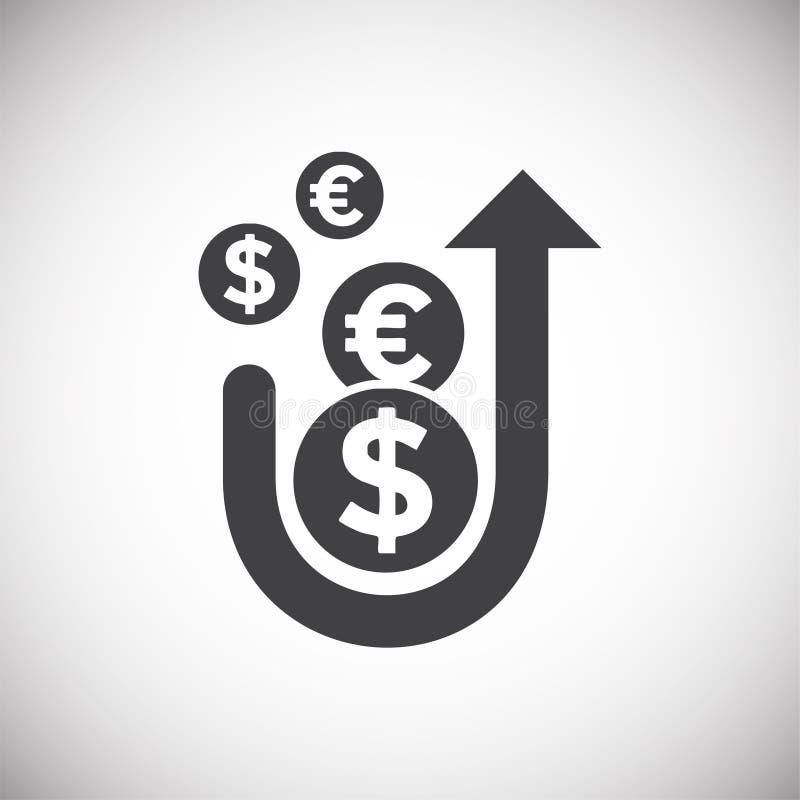 Icône liée au marché sur le fond pour le graphique et la conception web Illustration simple Symbole de concept d'Internet pour le illustration libre de droits