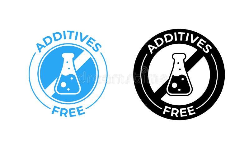 Icône libre de vecteur d'additifs Les additifs libèrent joint non non supplémentaire et médicalement examiné de paquet illustration de vecteur