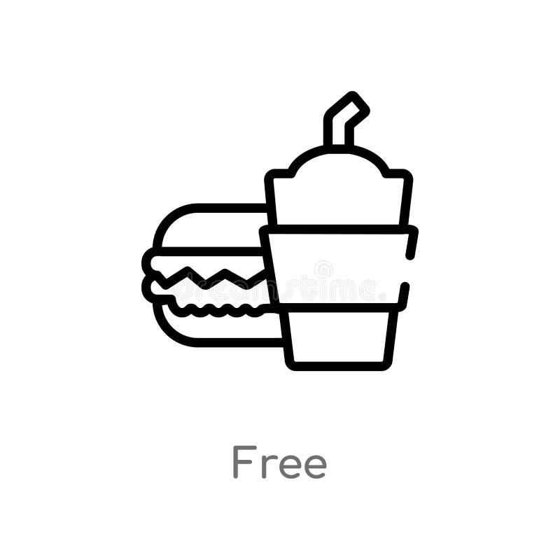ic?ne libre de vecteur d'ensemble ligne simple noire d'isolement illustration d'?l?ment de concept d'aliments de pr?paration rapi illustration de vecteur