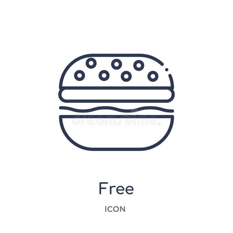 Icône libre linéaire de collection d'ensemble de prêt-à-manger Ligne mince vecteur libre d'isolement sur le fond blanc illustrati illustration libre de droits